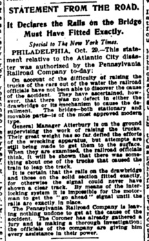 World's first Press Release by Ivy Lee as published in the New York Times.