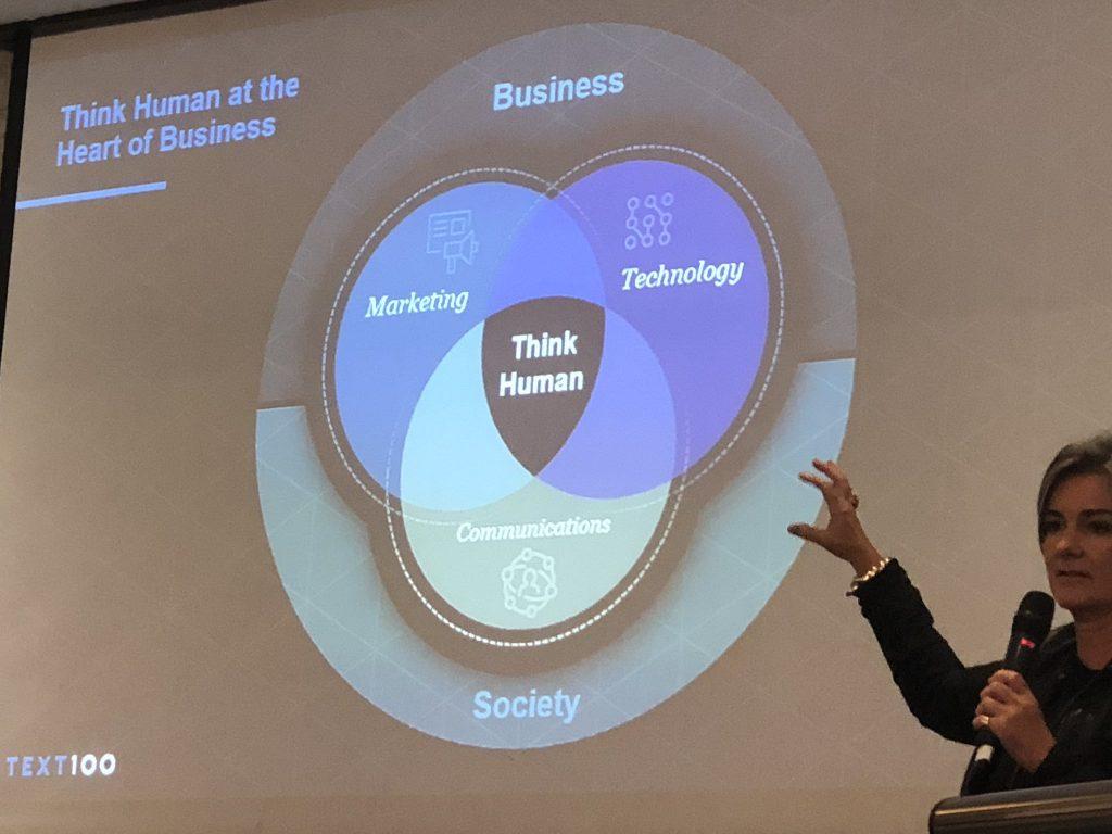 Aedhmar Hynes speaking at ICCO Global Summit